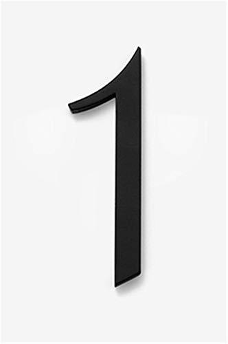 Placa de puerta número 0-9, placa de puerta adhesiva de latón resistente al agua, disponible en negro y dorado, 50mm