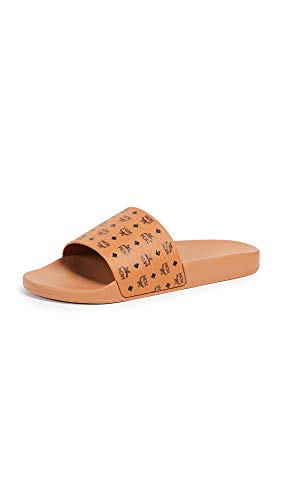 MCM Mens Visetos Slide Cognac 46 (US Men's 13) M