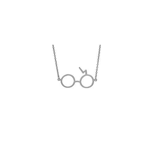 FANKUNYIZHOUSHI Brillenanhänger Halskette Brille mit Blitz Charm Anhänger Halskette 1 Stück 1 Stück (4 Zoll) Silberbeschichtung, 1 Stück