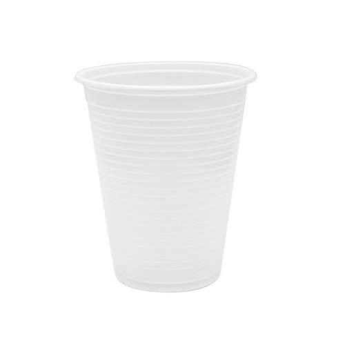 Virsus 200 Bicchieri Biodegradabili 200 ml Bianchi 4 cf x 50 pezzi compostabili BIO-Compost Tazza bicchiere bio per Acqua bibite rispetta la Natura
