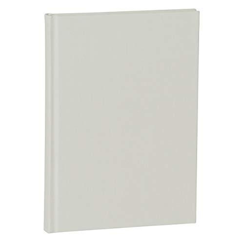 Semikolon (361779) Notizbuch A5 Classic Blanko Stein (Hell-Grau), Leineneinband, 160 S. büttengeprägtes Papier, Lesezeichen