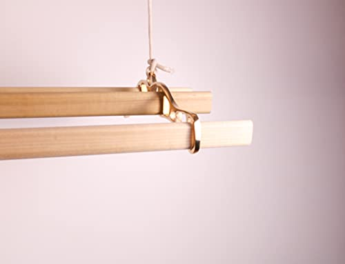 Secador de ropa con 4 barras de madera 120cm (latón)