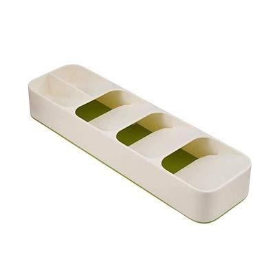 KHGDNOR Plastic messenblok houder Drawer Messen vorken Lepels opslag Rack Knife Stand kabinet Tray Kitchen cultery Organizer (Color : B green)