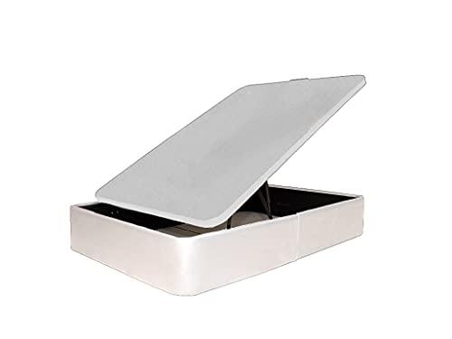 Canapé Tapizado en Polipiel, Acabado de Esquinas Redondas - Cabeceroscamas.com (Blanco, 105x190)