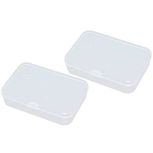 2 Stücke Kunststoff Transparent Lagerung Sammlungen Container Box Fall Küche Liefert 8.8x6x2 cm