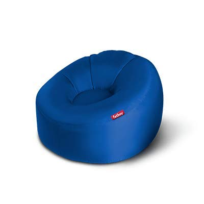 Fatboy® Lamzac O Sofa / Hocker / aufblasbares Nomad Sofa | Benzin Bleu Hängematte mit Luft gefüllt | für den Außenbereich (Strand, Garten oder Schwimmbad) 110 x 103 x 62 cm