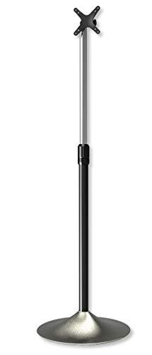 Techly 022632 Supporto a Pavimento Colonna a Base Circolare per TV LCD/LED 13-27' Silver