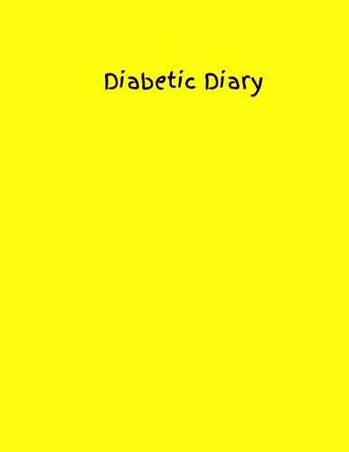 Diabetic Diary: Neon fluorescent Yellow | Yellow | Daily Diabetic Glucose Tracker Journal Book With Space for 2 Years of Recording - Record Blood Sugar Levels (Before & After)