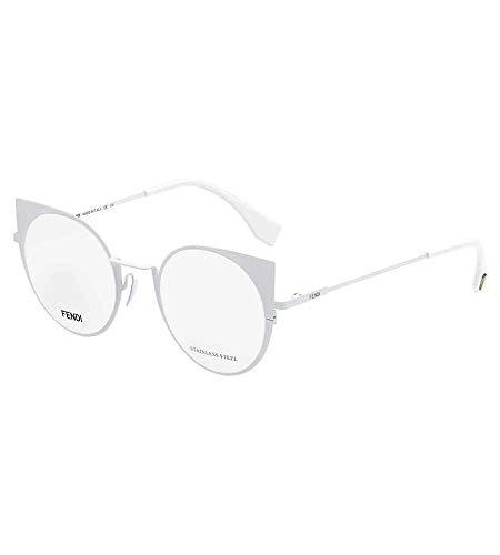 Fendi FF 0192 2C9 -48 -21 -140 Fendi Brillengestelle FF 0192 2C9 -48 -21 -140 Rund Brillengestelle 48, Weiß
