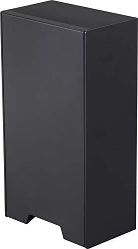 山崎実業(Yamazaki) ツーウェイ マスク収納 ケース ブラック 約W12XD7.5XH22cm タワー 強力マグネット付き 4955