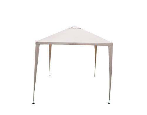 SORARA Tonnelle Pavilion Tente de réception | 270 x 270 cm (2.7 x 2.7 m) | Beige/Beige W/ 2 parois latérales | 31 kg (UV 50 +) Polyester | Cas pour Camping Jardin Abri