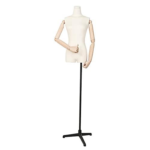 YLLYLL Cuerpo de Torso de maniquí, Modelo Femenino con Tiendas de Ropa...