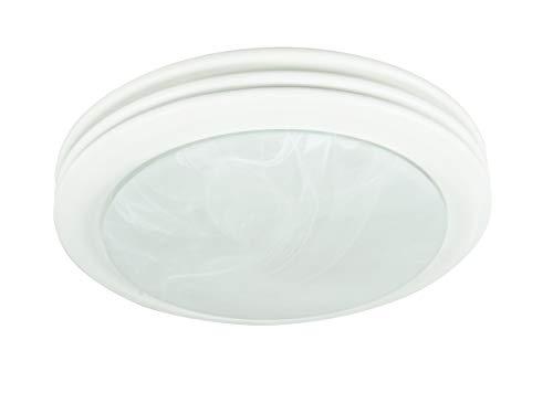 Hunter Home Comfort 90052 Hunter Saturn Decorative Bathroom Ventilation Fan with Light, Satin White