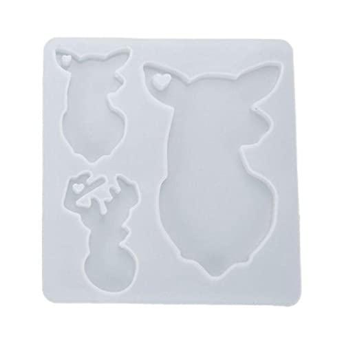 Sweo DIY llavero colgante de fundición de silicona molde de resina de cristal epoxi molde de joyería que hace la herramienta moldes de arcilla para niños