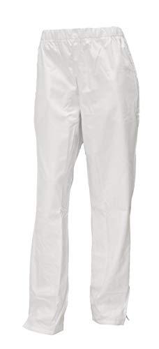 Pflegerhose weiß blau grün Schwesternhose Damenhose Hose Gummizug, Farbe:weiß, Größe:44