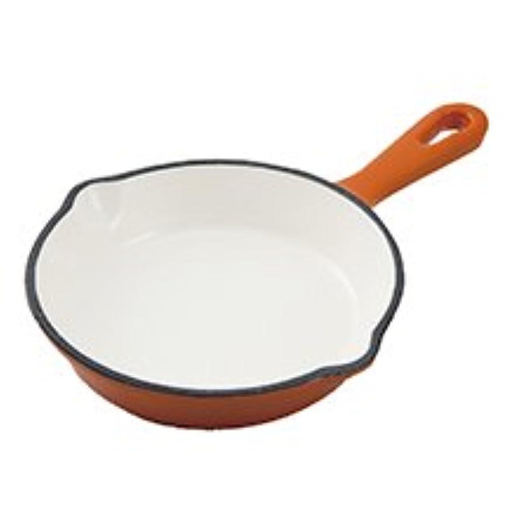 基本的な強制干渉するホーロースキレットパン 16cm (オレンジ)