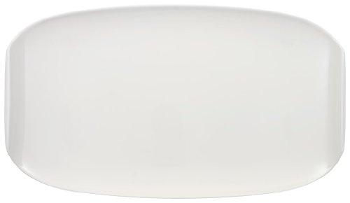 Villeroy & Boch Urban Nature Plat de service, 42x24 cm, Porcelaine Premium, Blanc