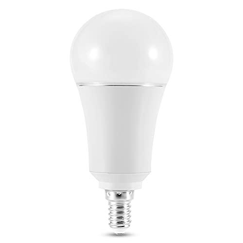 Pelnotac Lámpara inteligente, Wi-Fi LED bombilla controlada por smartphone con luces coloridas para sala de estar, dormitorio, pasillo AC100-264V 9W (E14)