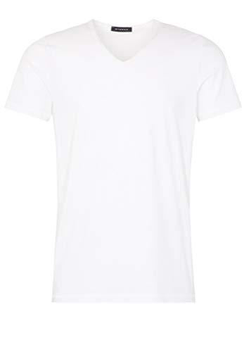 eterna Bodyshirt mit verlängertem V-Ausschnitt unifarben
