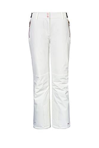 Killtec Damen Siranya Skihose, Weiß, 46 (2XL)