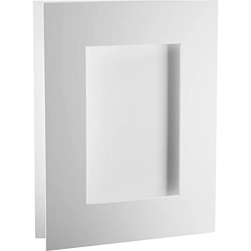 기록방법 14X18 밝은 흰색 프리컷 전시 매트 9X13.5 인쇄 5팩