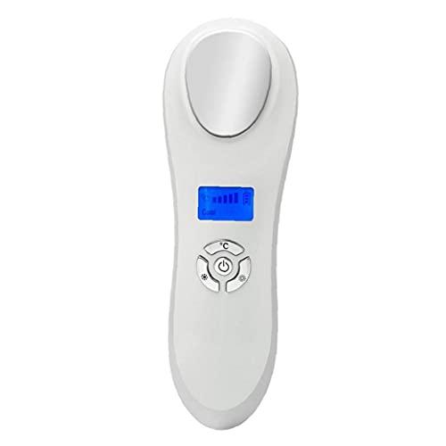 Caliente y fría de la Cara masajeador eléctrico Dispositivo de Levantamiento de la Piel Facial Anti-Arrugas de la máquina Blanca