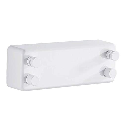 ZHANGJIAN Easy to Store Conjunto de tendedero retráctil Multifuncional retráctil Secado Secado Secado Balcón Encogimiento Interior de la Pared del hogar Red Save Space (Color : White)