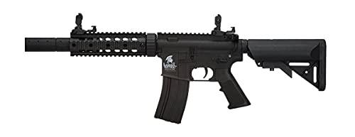 Fusil eléctrico Airsoft LT-15 G2 M4 SD Combo 1 J Lancer Tactical AR-15 Rifle táctico 6 mm 330 fps (Incluye batería y Cargador)
