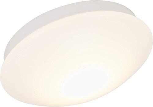 Briloner Leuchten LED Badezimmerleuchte, Badezimmerlampe, Deckenleuchte, IP44 spritzwassergeschützt, ideal als Badleuchte, einfache Montage, angenehmes warm weißes Licht, Ø 30 cm, Farbe: weiß