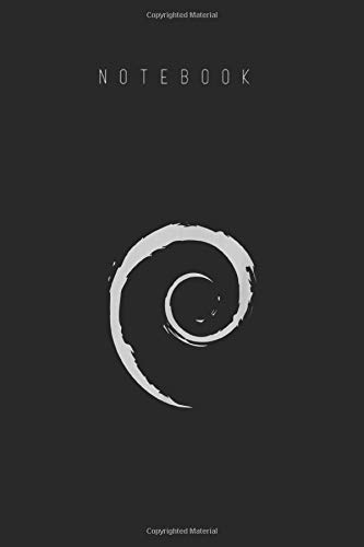 Notebook: Debian Logo Spiral Minimalist Cover Arts Designed for Kids and Women and Men Wide Ruled Lined Journal Designed Black with Lined Notebook Journal Size 6in x 9in x 125 Pages