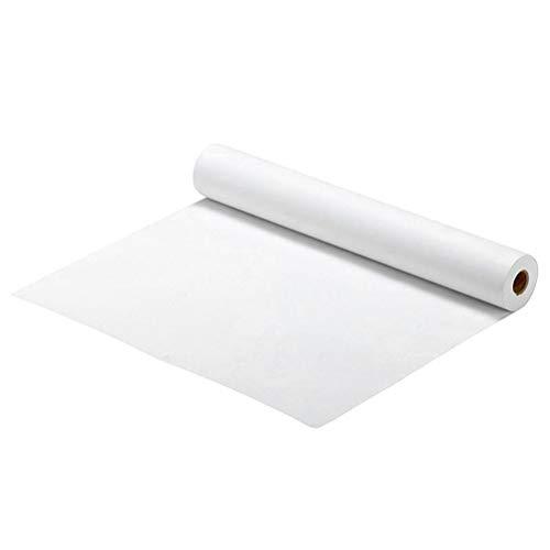 NUOBESTY 500X45cm Rollo de Papel de Dibujo 1Pcs, Rollo de Papel de Arte Niños Arte Caballete Papel Camino de Mesa Tubos de Papel Tubos de Cartón para Almacenamiento Dibujos - Blanco