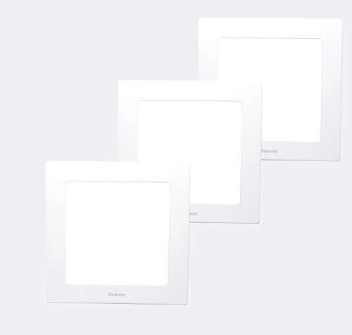 Diolumia - Lot de 3 Spots LED Encastrables Extra plat carré - 18W 1440LM - Equivalent 150W - Blanc neutre 4500K - Downlight Panneau Plafonnier LED Carré - 225 * 225 * 20 mm [Classe énergétique A+]…