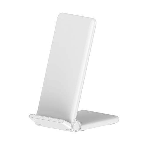 DZSF 20W Qi sans Fil Pliant Vertical Rapide Chargeur De Charge Support Haute Puissance Accueil Support pour Tous Les Téléphones Qi-Activés,Blanc