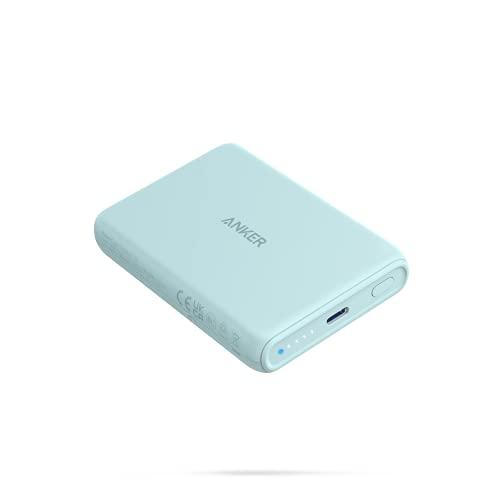 Anker PowerCore Magnetic 5000 (マグネット式ワイヤレス充電機能搭載 5000mAh コンパクト モバイルバッテリー) 【 マグネット式/ワイヤレス出力 (5W) / USB-Cポート出力 (10W) / PSE技術基準適合 】iPhone 13 / 13 Mini / 13 Pro (ミントグリーン)