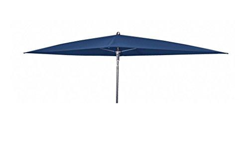 Doppler Absolut wasserdichter Gartenschirm Waterproof 230x190 ohne Volant, UV-Schutz 50 Plus, Farbe dunkelblau
