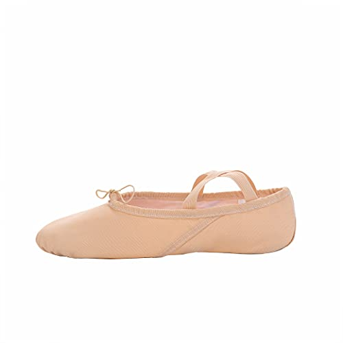(Light Pink, Adult:EU37/UK5/23.5cm/9.25Inch) - SKYSOAR Girl's Women's Canvas Ballet Shoes Dance Split Flat Shoes Gymnastics Yoga Shoes for Child's and Adult