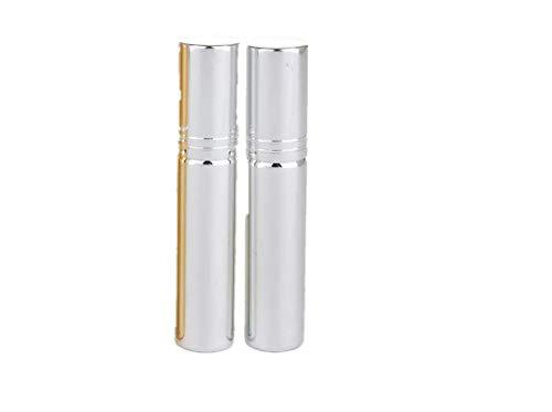 KINGDUO 10Ml Électrolytique UV Verre Voyage Parfum Bouteilles Atomiseur Portable Spray Rechargeable Récipient-Argent