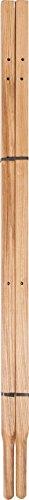 True Temper 00221400A Wood Wheelbarrow Replacement Handles, 60-Inch