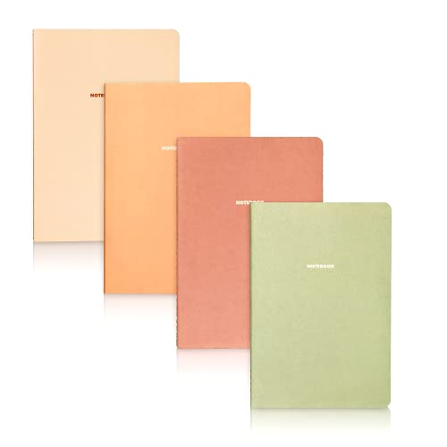 Happy Hoos (8 Pack) Writing Journal, Cute Soft Cover Notebook Set, Travel, Meditation, Wedding, Dream Journals, Lightweight A5 Lined Paper Diary, 8 Pack, 60 Pages, 5.5 x 8 in, Assorted Colors