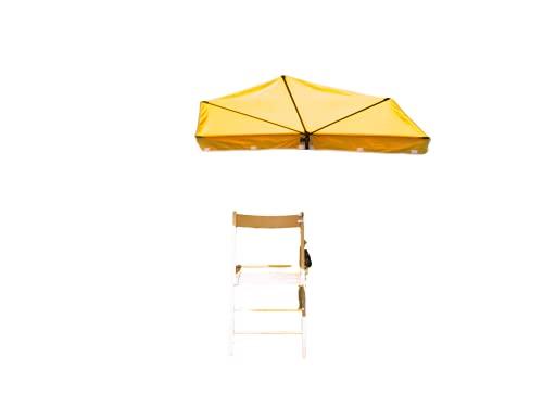 STABIELO Tisch - Stuhl - Sonnenschutz - GELB - mit 360 ° drehbarer STABIELO - Multi Halterung - für Befestigungen bis 65 mm Ø - Gewicht NUR 1.2 kg -