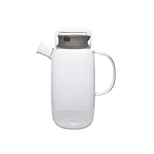 Jarra de Agua 50.7 oz Jarra de vidrio de alto borosilicato con tapa con alta temperatura Resistente a la temperatura Juguete de jarra de jarra de jarra de jarra de jarra para amigos Nuevo hogar Jarras