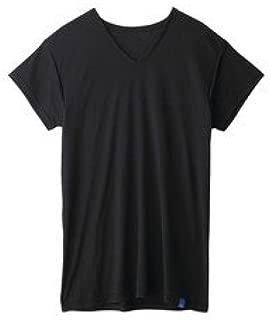 COOLMAGIC クールマジック 汗取り付きVネックTシャツ 短袖 ブラック L