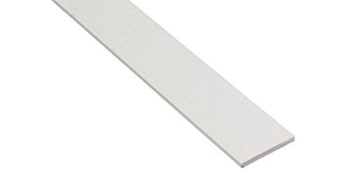 BawiTec PVC Abdeckleiste Kunststoffleiste Flachleiste 80mm 300cm Kunststoff Flachprofil weiß