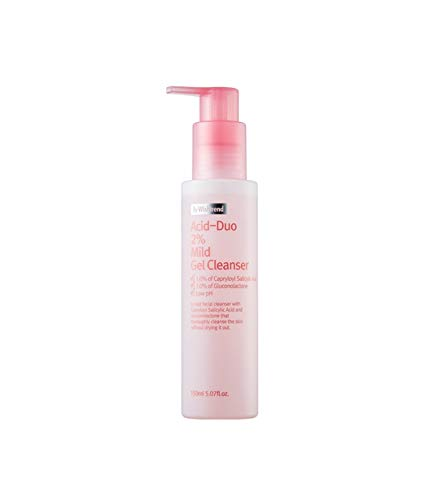 [By wishtrend] Acid-duo 2% Mild Gel Cleanser 150ml, Exfoliating Wash, Clear Pores for Sensitive Skin
