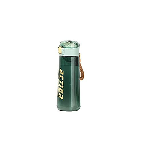 SJUN Botella deportiva de 500 ml de moda, fácil de limpiar, tapa de un solo clic, sin sabor, respetuoso con el medio ambiente, taza de agua para niñas, gimnasio, senderismo, escuela, oficina, hogar