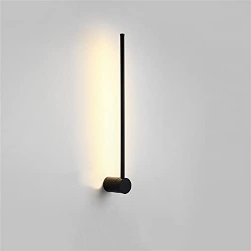 HORKEY Lámpara de pared interior moderna LED lámpara de pared rectangular lámpara de pared creativa giratoria ejecución salón dormitorio mesita de noche final de la cama Art Deco iluminación 60 cm