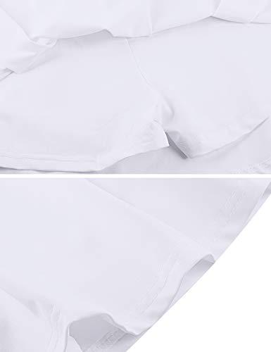 iClosam Faldas Deportivas Mujer Cómoda Faldas Plisadas Respirable Falda Corta Verano para Entrenamiento de Gimnasia Blanco L