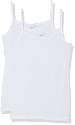 Sanetta Mädchen 344838  Multiway Unterhemd,  Weiß (White 10),  164 (2er Pack)