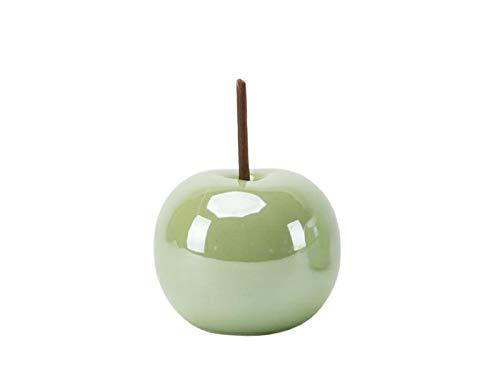 meindekoartikel Traumhafter Deko-Apfel aus Keramik Lüster grün – Ø 8,5cm x Höhe 10cm