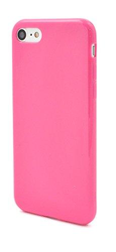 PLATA iPhone7 iPhone8 iPhoneSE 第2世代 ソフトケース スマホケース カバー 【 ビビットピンク 】 シンプル に スマホ を 保護 する しなやかさと 耐久性 を備えた 衝撃 に強い TPU カバー